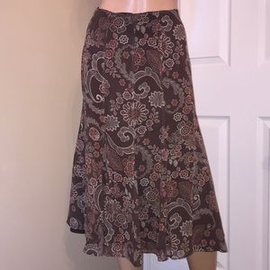 Pendleton 100% silk fully lined skirt size 8 (E-11